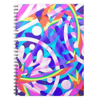 Caderno Espiral Conjunto de variação da violeta da cor