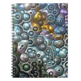 Caderno Espiral Conjuntos 3D coloridos