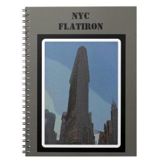Caderno Espiral Construção de NYC Flatiron