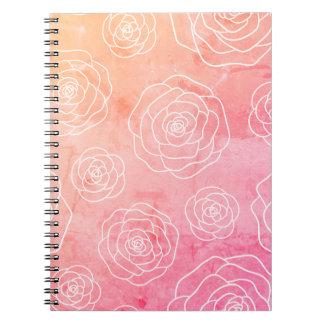 Caderno Espiral Contorno dos rosas