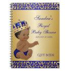 Caderno Espiral Convidado do presente do ouro do príncipe azul
