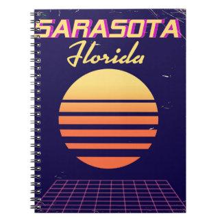 Caderno Espiral Cópia das viagens vintage dos anos 80 de Sarasota