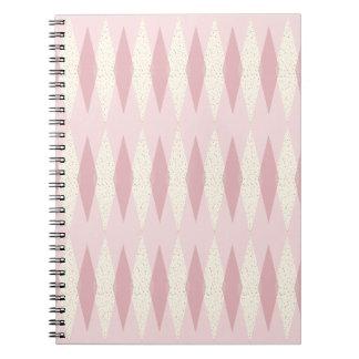 Caderno espiral cor-de-rosa moderno de Argyle do