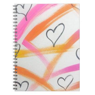 Caderno Espiral Coração alegre