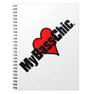 Caderno Espiral Coração carmesim de MyBassChic (TM)