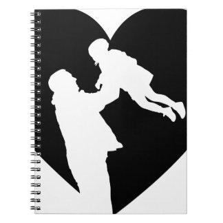 Caderno Espiral Coração do pai e da filha