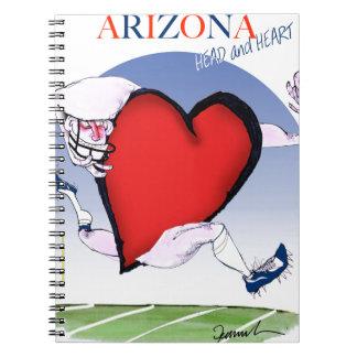 Caderno Espiral coração principal da arizona, fernandes tony