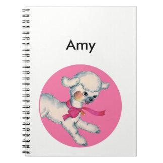 Caderno Espiral Cordeiro macio no rosa