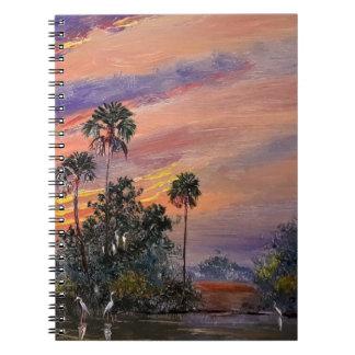 Caderno Espiral Cores do por do sol de Florida