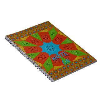Caderno Espiral Cores femininos africanas de surpresa bonitas do