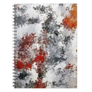 Caderno Espiral cores misturadas