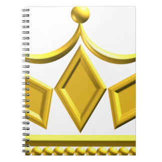 Caderno Espiral Coroa do ouro
