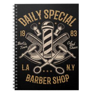 Caderno Espiral Corte e Shave especiais diários da barbearia
