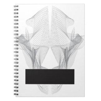 Caderno Espiral Crânio abstrato do urso