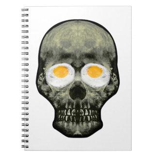 Caderno Espiral Crânio com olhos do ovo frito