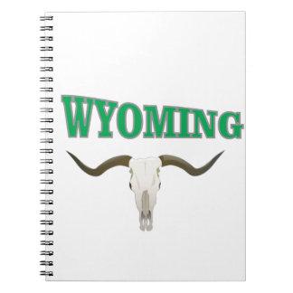 Caderno Espiral Crânio de Wyoming