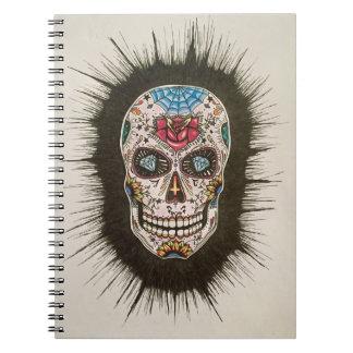 Caderno Espiral Crânio do açúcar