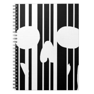 Caderno Espiral Crânio do código de barras