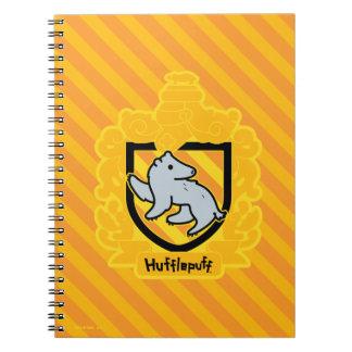 Caderno Espiral Crista de Hufflepuff dos desenhos animados