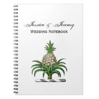 Caderno Espiral Crista heráldica formal da brasão do abacaxi