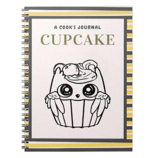 Caderno Espiral Cupcake o jornal de um cozinheiro