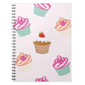 Caderno Espiral Cupcakes e muffin