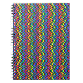 Caderno Espiral Curvas coloridas