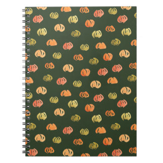 Caderno espiral da abóbora