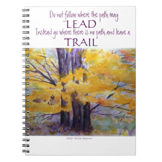 Caderno espiral da arte da aguarela da inspiração