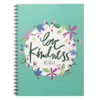 Caderno espiral da bondade do amor