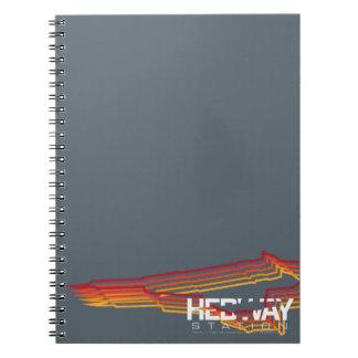Caderno espiral da estação de HEDWAY
