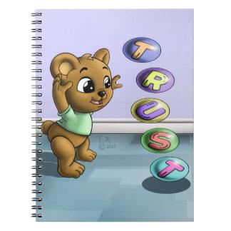 Caderno espiral da foto da confiança (80 páginas