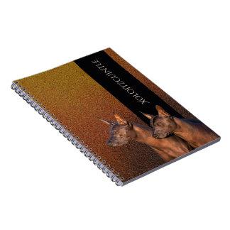 Caderno espiral da foto de Xoloitzcuintle