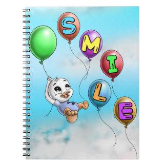 Caderno espiral da foto do sorriso (80 páginas