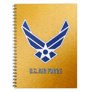 Caderno espiral da foto do U.S.A.F.