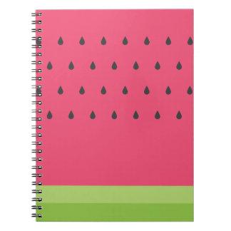 Caderno espiral da melancia