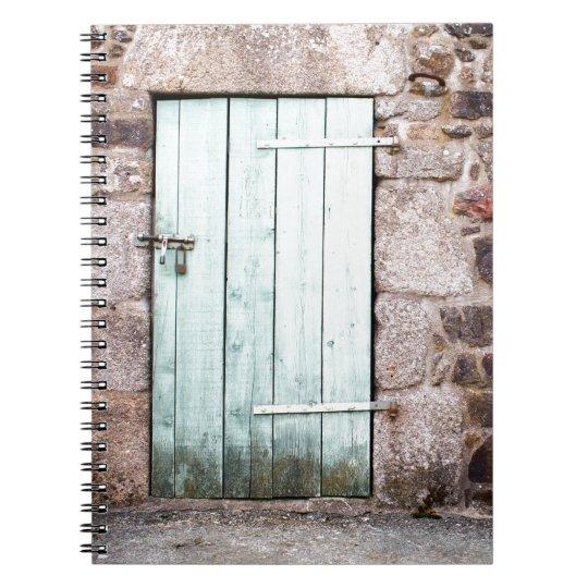 Caderno espiral da porta estável e de parede de