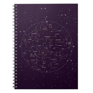 Caderno espiral da sensação | da constelação