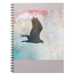Caderno espiral da silhueta do Osprey