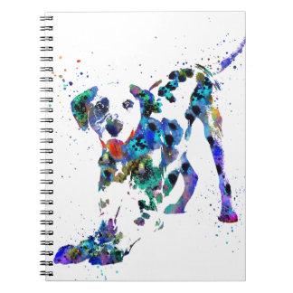 Caderno Espiral Dalmatian, cão Dalmatian, Dalmatian da aguarela