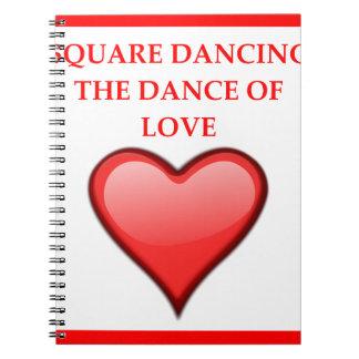 Caderno Espiral dança quadrada