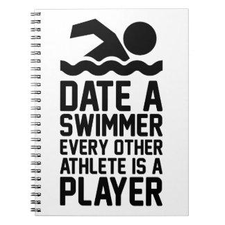 Caderno Espiral Date um nadador