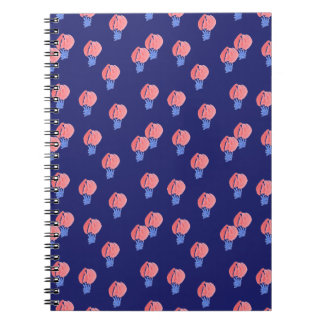 Caderno espiral de balões de ar
