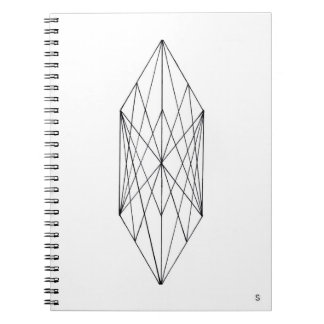Caderno espiral de cristal geométrico mínimo