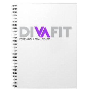 Caderno espiral de DivaFit (luz)