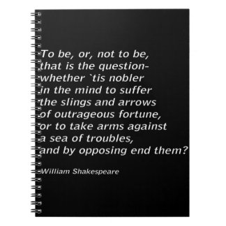 Caderno Espiral ` De Hamlet do ` do ` s de William Shakespeare