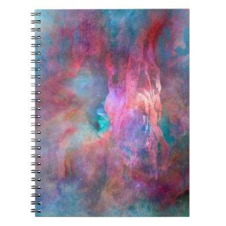 Caderno espiral de mundo de fantasia da criação