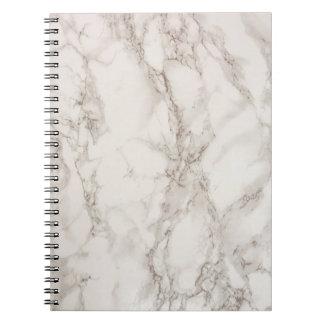 Caderno espiral de pedra de mármore