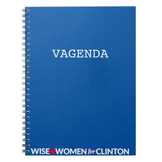 Caderno espiral de WWFC Vagenda (azul)