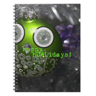 Caderno Espiral Decoração bonito da coruja - hOWLidays felizes!